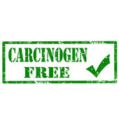 Carcinogen Free-stamp — Stock Vector