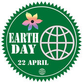 Earth Day-label — Stock Vector