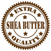 Shea Butter-stamp — Stock Vector