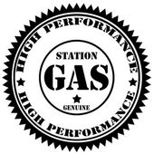 Station Gas-stamp — Stock Vector