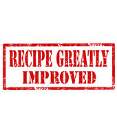 Recipe Greatly Improved-stamp — Stock Vector