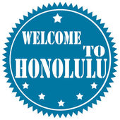 Welcome To Honolulu — Stock vektor