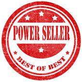 Power Seller-stamp — Stock Vector