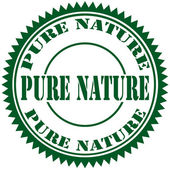 Pure Nature-stamp — Stock Vector