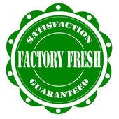 工厂新鲜标签 — 图库矢量图片