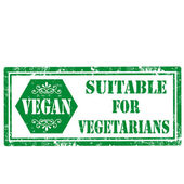 Suitable For Vegetarians-stamp — Vector de stock