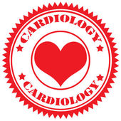Kardiologie razítko — Stock vektor