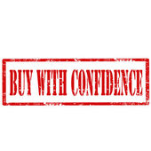 Buy With Confidence-stamp — Stock vektor