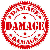Damage-stamp — Stock Vector
