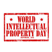 World Intellectual Property Day-stamp — Stock Vector