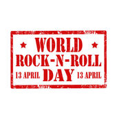 World Rock-N-Roll Day-stamp — Stock Vector