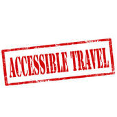 Accessible Travel-stamp — Stock Vector