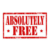 Absolutely Free-stamp — Stock Vector