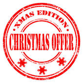 Christmas Offer-stamp — Stock Vector