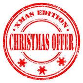 Sello de navidad oferta — Vector de stock