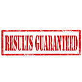 Results Guaranteed-stamp — Stock Vector