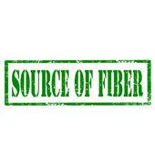 Source Of Fiber-stamp — Stock Vector