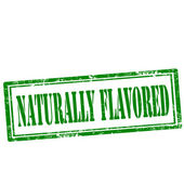 Naturally Flavored-stamp — Stock Vector
