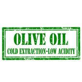 Olive Oil-stamp — Vector de stock