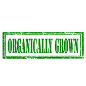 Organically Grown-stamp — Stock Vector