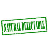 Natural Delectable-stamp — Stock Vector