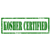 Kosher Certified-stamp — Stock Vector