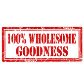 Wholesome Goodness-stamp — Stock Vector