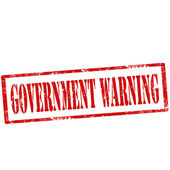 Government Warning-stamp — Stock Vector
