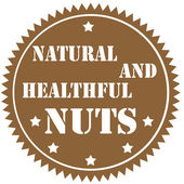 Nuts-label — Stock Vector