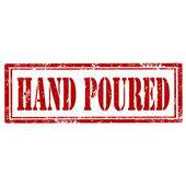 Hand Poured-stamp — Stock Vector