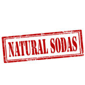 Natural Sodas-stamp — Stock Vector