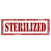 Sterilized-stamp — Stock Vector