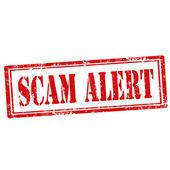 Scam Alert-stamp — Stock Vector