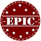 Epic-stamp — Stock Vector