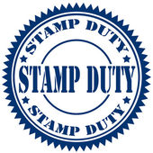Stamp Duty-stamp — Stock Vector