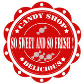 Candy Shop-label — Stock Vector