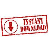 Instant Download-stamp — Stock Vector