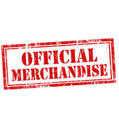 Official Merchandise-stamp — Stock Vector