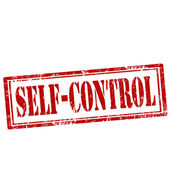 Self-Control-stamp — Stock Vector