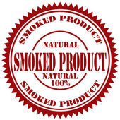 Smoked Product-stamp — Stock Vector