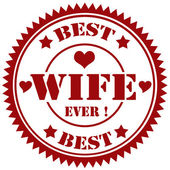 Best Wife-stamp — Stock Vector