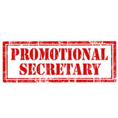 Promotional Secretary-stamp — Stock Vector