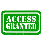 Access Granted-stamp — Stock Vector