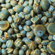 Blue Glazed Pottery Beads — Photo