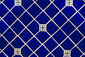 Blue Ceramic Tile Wallpaper Background — Stock Photo