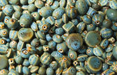Blue Glazed Pottery Beads — Stock Photo
