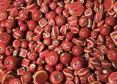 红釉的陶珠 — 图库照片