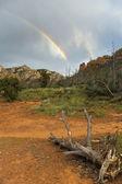 Rainbow and Ruins — Stock Photo