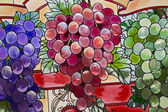 Stained Glass Grape Clusters — Stock Photo