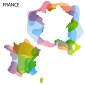 Design Map of France — Stock Vector